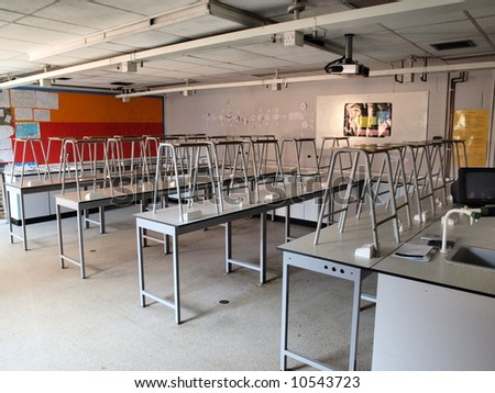 School science lab - stock photo