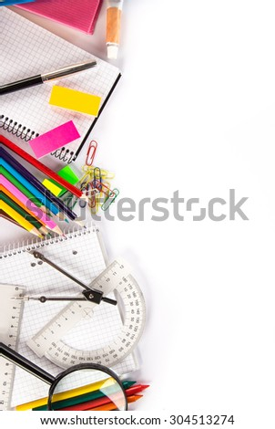 School stationery. - stock photo