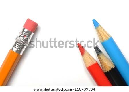 School stationery isolated