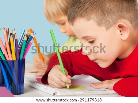 School, student, classroom. - stock photo