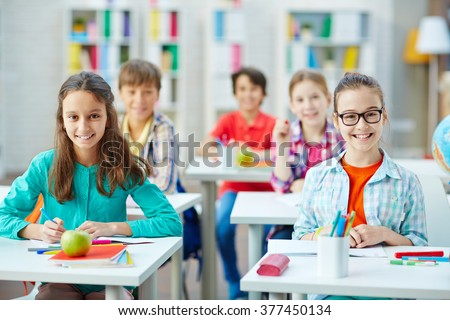 School studies - stock photo