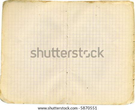 School time. Papers from notebook. - stock photo