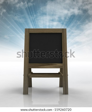 school wooden rack front view with sky flare illustration