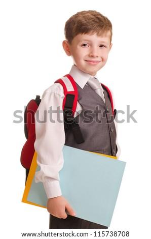 Schoolboy - stock photo