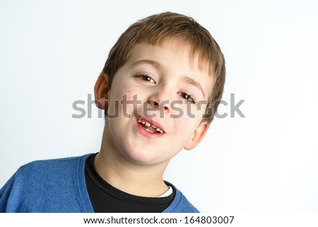 Schoolboy expression - Portrait of a child
