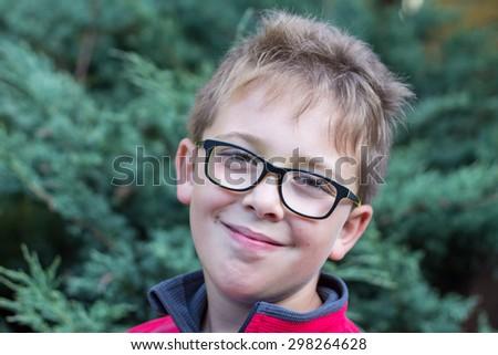 SchoolBoy Summer Outdoor Portrait - stock photo