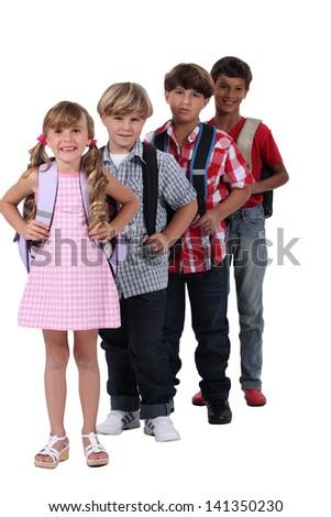Schoolchildren - stock photo
