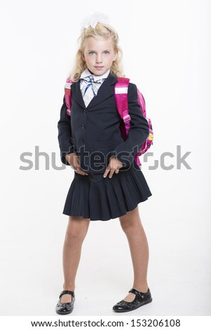 Schoolgirl is back to school