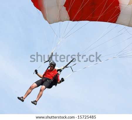 Schuster Marcel of Swizerland participates in FAI - World parachuting championship, 26 july- 2 august, 2008 in Lucenec - Bolkovce, Slovakia