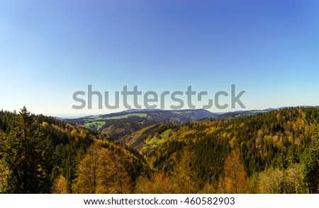 Schwarzwald mountains spring view, sunny day, natural landscape