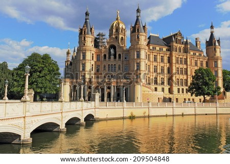 Schwerin Castle - stock photo