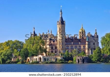 Schwerin palace  - stock photo