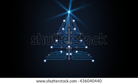 sci fiction Christmas tree design