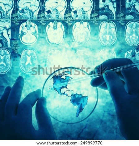 science and medical background. Retro stale. - stock photo