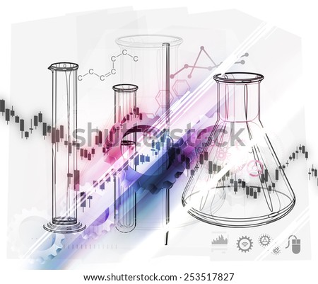 Science Background Abstract Stock Image