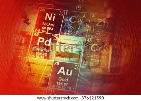 Science background with chemical elements. - stock photo