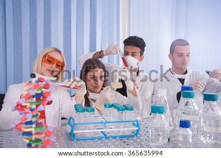 science, chemistry, biology. - stock photo