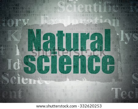 Science concept: Painted green text Natural Science on Digital Paper background with   Tag Cloud
