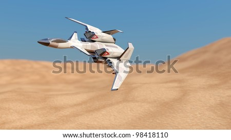 science fiction aircraft - stock photo