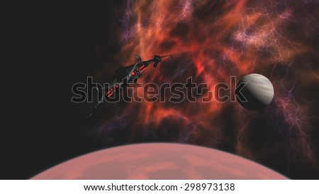 stock-photo-science-fiction-attack-space