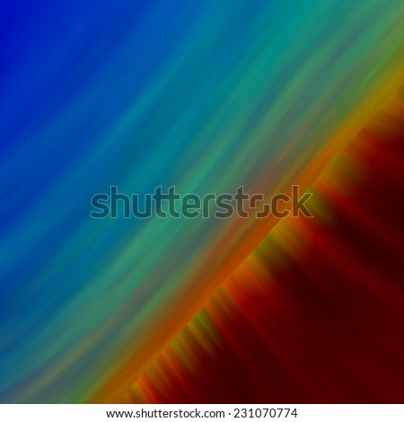 Science Fiction Futuristic Background - Colorful Abstract Artistic Surreal Abstraction for Design Artworks - Bizarre Space Illustration - Effect Backgrounds - Blue Sun - Apocalyptic Firewall - Sci-fi - stock photo