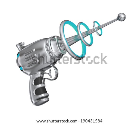 Science fiction gun - isolated on white background - stock photo