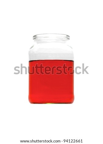 Science flasks isolated against a white background