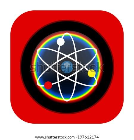 Science icon - stock photo