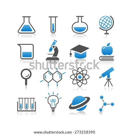 Science icon set - Simplicity Series - stock photo