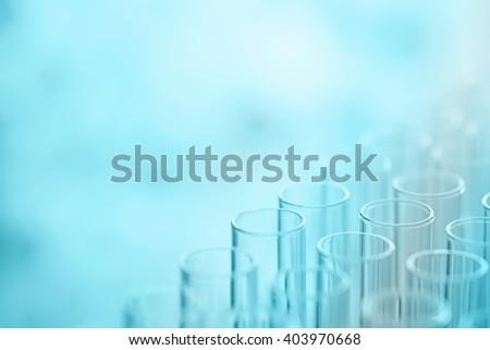 science laboratory test tubes , laboratory equipment - stock photo