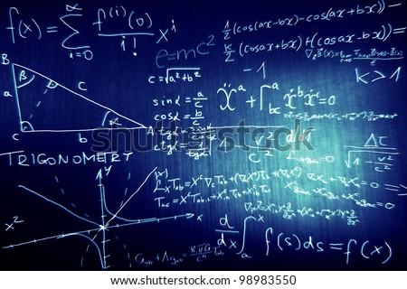 Science Mathematics Physics Illustration - stock photo