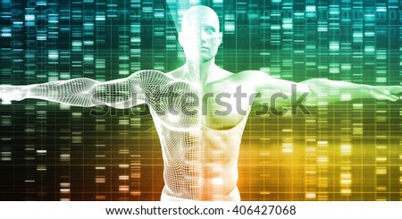Science Technology Data as a Abstract Art 3d Illustration Render - stock photo