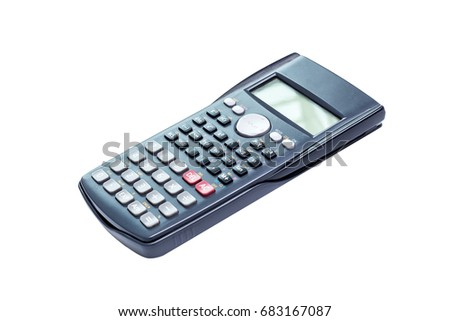 Scientific Calculator. Isolated on white background with clipping path