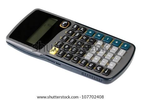 Scientific calculator on white background - stock photo