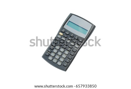 Scientific calculator on white isolated background