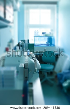 Scientific histological lab out of focus - stock photo