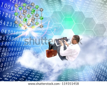 Scientific innovative  research - stock photo