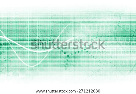 Scientific Research Chart for Medical Sales Art - stock photo