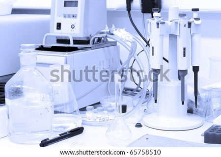 Scientific research concept - in the lab - stock photo