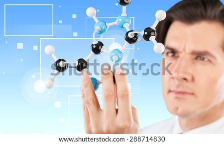 Scientist, Research, Laboratory. - stock photo