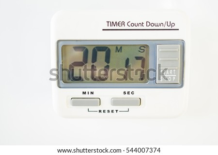 Scientist Timer digital clock.Countdown New Year 2017 concept