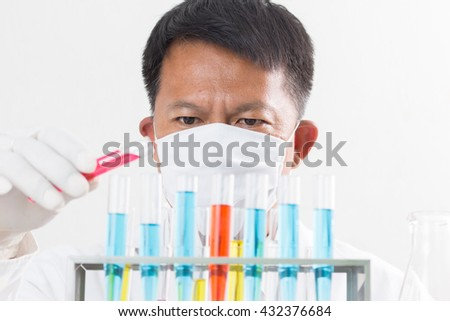 Scientists are testing and research lab