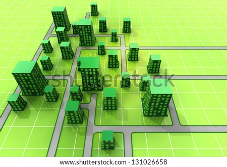 scifi city settlement in space concept illustration - stock photo
