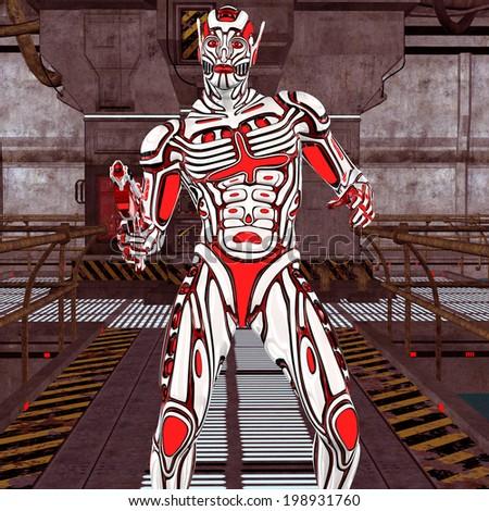 Scifi Fantasy Figure - stock photo