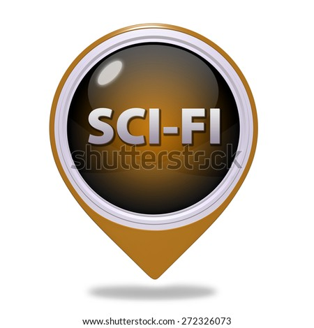 SciFi pointer icon on white background
