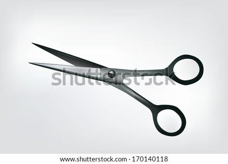 Scissors Isolated on white - stock photo