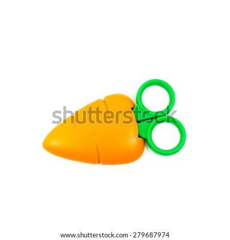 Scissors on white background - stock photo