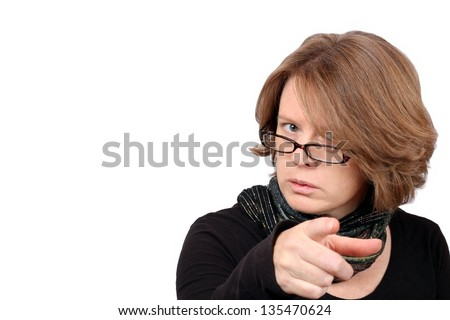 Scolding Teacher - stock photo