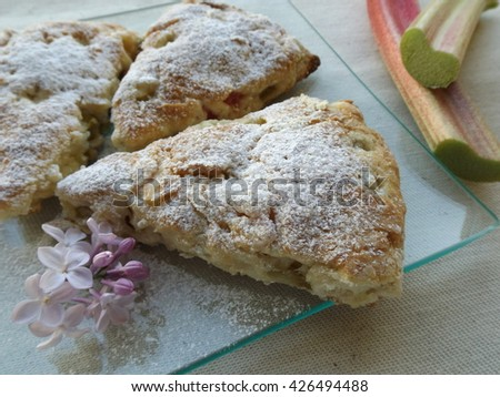 scones with rhubarb