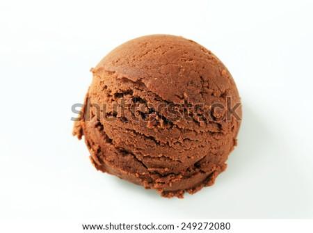 Scoop of chocolate ice cream  - stock photo